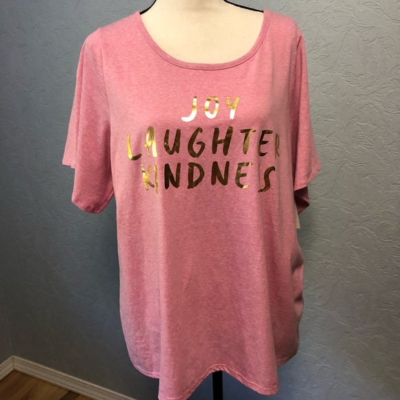 Lane Bryant Tops - Lane Bryant Joy Laughter Kindness Graphic Tee D9